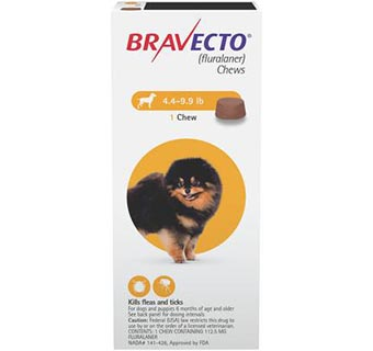 BRAVECTO™ CHEW TABS 4.4-9.9 LB TOY DOG 10/BOX (RX)