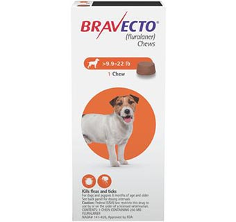 BRAVECTO™ CHEW TABS 9.9-22 LB SMALL DOG 10/BOX (RX)