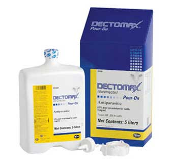 DECTOMAX® POUR-ON SOLUTION (DORAMECTIN) 2.5 LITER 4 COUNT BOX