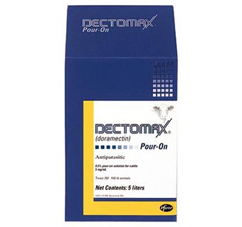 DECTOMAX® POUR-ON SOLUTION (DORAMECTIN) 5 LITER 2 COUNT BOX