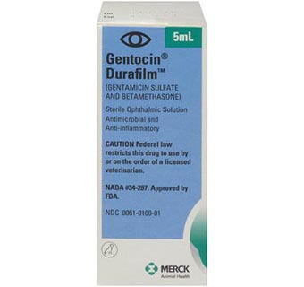 GENTOCIN® DURAFILM® 5 ML BOTTLE 10/PKG (RX)