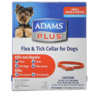 ADAMS PLUS FLEA & TICK COLLAR DOG SMALL