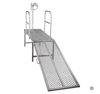 GALVANIZED METAL SHEEP TRIMMING STAND
