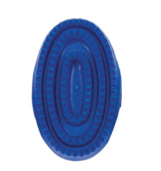 CURRY COMB JUNIOR SOFT RUBBER 4-3/4 IN BLUE