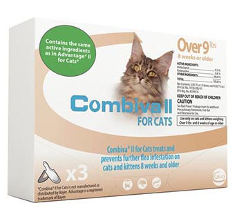 COMBIVA® II FOR CATS OVER 9 LB 3 DOSES/BOX 12 BOXES
