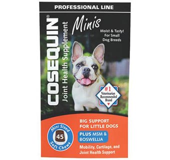 COSEQUIN® DS PLUS MSM & BOSWELLIA SOFT CHEWS MINIS 45/PKG