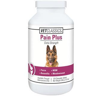 CANINE PAIN PLUS CHEWABLE TABLETS 120/BOTTLE