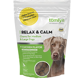 RELAX & CALM CHEWS FOR MEDIUM & LARGE DOGS CHICKEN FLAVOR 30/PKG
