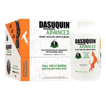 DASUQUIN® ADVANCED WITH MSM CHEWABLE TABLETS LARGE DOGS 140 CT X 4 BOTTLES