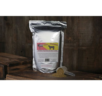 SHO-NATURAL CATTLE PROBIOTIC SUPPLEMENT NOT <12% PROTEIN NOT <5% FAT 50 LB
