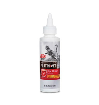 NUTRI-VET FELINE EYE RINSE 4 OZ BOTTLE