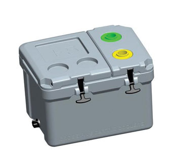 2-HOLSTER CHUTE SIDE VACCINATION COOLER