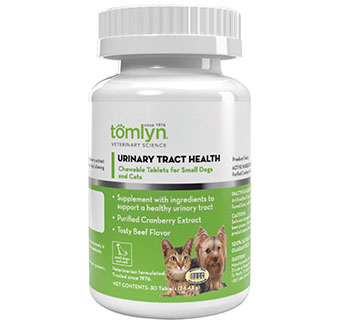 URINARY TRACT HEALTH CHEWABLE TABLETS FOR SMALL DOGS AND CATS 30 CHEWS/BOTTLE