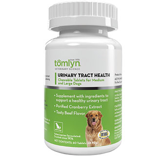 URINARY TRACT HEALTH CHEWABLE TABLETS MEDIUM AND LARGE DOGS 60 CHEWS/BOTTLE