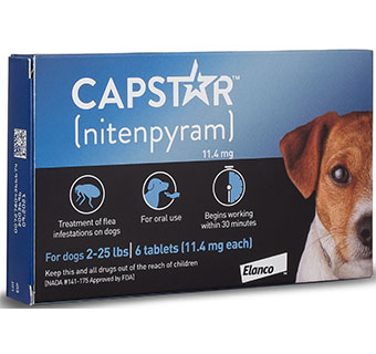 CAPSTAR® TABLETS BLUE FOR DOGS 2-25 LBS 11.4 MG 60 TABLETS