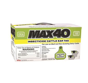 MAX 40™ INSECTICIDE CATTLE EAR TAG 100/CS